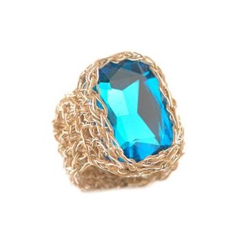 Silver blue crystal