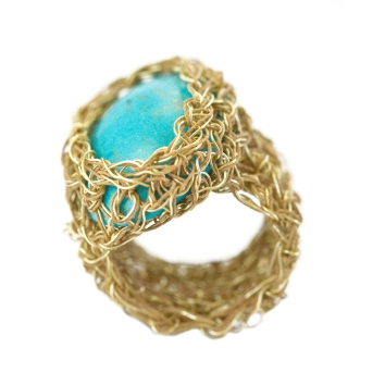 Gold turquoise